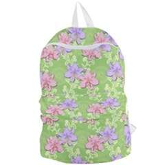Lily Flowers Green Plant Natural Foldable Lightweight Backpack