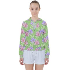 Lily Flowers Green Plant Natural Women s Tie Up Sweat by Pakrebo