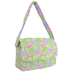 Lily Flowers Green Plant Natural Courier Bag