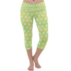 Traditional Patterns Hemp Pattern Capri Yoga Leggings