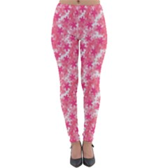 Phlox Spring April May Pink Lightweight Velour Leggings