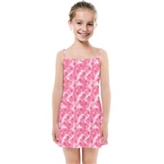 Phlox Spring April May Pink Kids  Summer Sun Dress