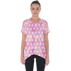 Traditional Patterns Hemp Pattern Cut Out Side Drop Tee