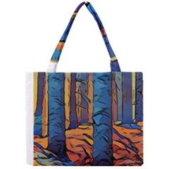 Woods Trees Abstract Scene Forest Mini Tote Bag