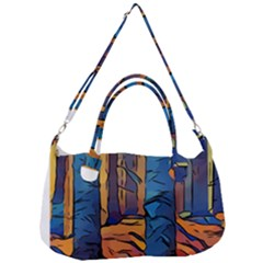 Woods Trees Abstract Scene Forest Removal Strap Handbag