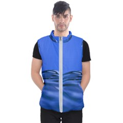 Wave Macro Water Surface Men s Puffer Vest