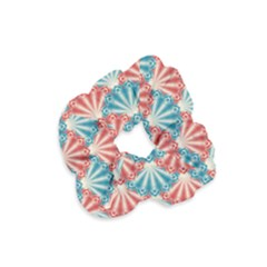 Seamless Patter Peacock Feathers Velvet Scrunchie
