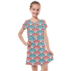 Seamless Patter Peacock Feathers Kids  Cross Web Dress