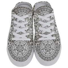 Vector Mandala Drawing Decoration Half Slippers