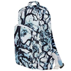Tree Winter Blue Snow Cold Scene Double Compartment Backpack