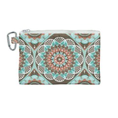 Seamless Pattern Colorful Wallpaper Canvas Cosmetic Bag (medium)