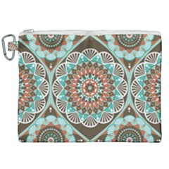 Seamless Pattern Colorful Wallpaper Canvas Cosmetic Bag (xxl)
