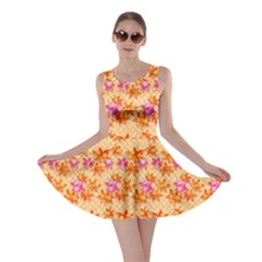 Maple Leaf Autumnal Leaves Autumn Skater Dress by Pakrebo