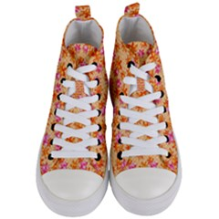 Maple Leaf Autumnal Leaves Autumn Women s Mid Top Canvas Sneakers