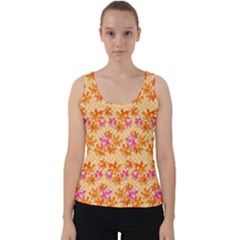 Maple Leaf Autumnal Leaves Autumn Velvet Tank Top