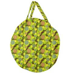 Flowers Yellow Red Blue Seamless Giant Round Zipper Tote by Pakrebo