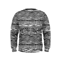 Ethno Seamless Pattern Kids  Sweatshirt