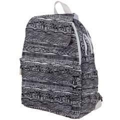 Ethno Seamless Pattern Top Flap Backpack by Pakrebo
