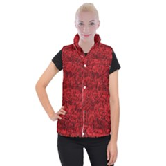 Rose Roses Flowers Red Valentine Women s Button Up Vest