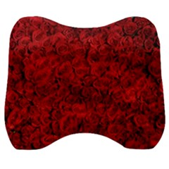 Rose Roses Flowers Red Valentine Velour Head Support Cushion by Pakrebo