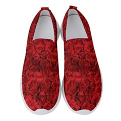 Rose Roses Flowers Red Valentine Women s Slip On Sneakers