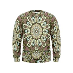 Seamless Pattern Abstract Mandala Kids  Sweatshirt