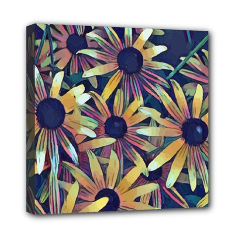 Spring Floral Black Eyed Susan Mini Canvas 8  X 8  (stretched)