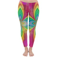 Color Abstract Form Ellipse Bokeh Classic Winter Leggings by Pakrebo