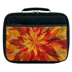Flower Blossom Red Orange Abstract Lunch Bag