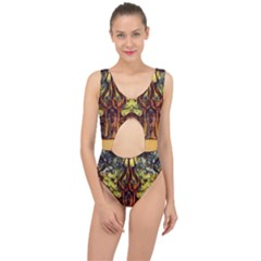Tree Monster Maestro Landscape Center Cut Out Swimsuit