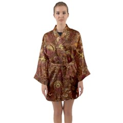 Gears Cogs Industrial Machinery Long Sleeve Kimono Robe