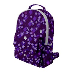 Textile Cross Pattern Square Flap Pocket Backpack (large)