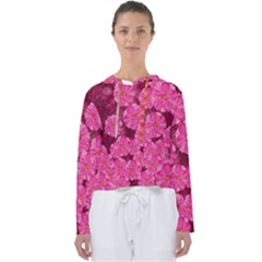 Cherry Blossoms Floral Design Women s Slouchy Sweat by Pakrebo