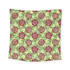 Seamless Pattern Leaf The Pentagon Square Tapestry (small) by Pakrebo