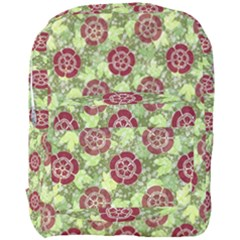 Seamless Pattern Leaf The Pentagon Full Print Backpack by Pakrebo