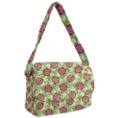 Seamless Pattern Leaf The Pentagon Courier Bag