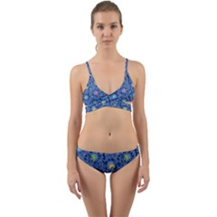 Floral Design Asia Seamless Pattern Wrap Around Bikini Set