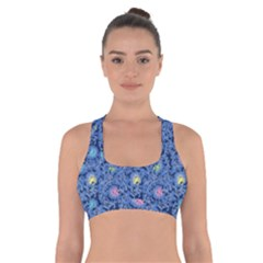 Floral Design Asia Seamless Pattern Cross Back Sports Bra
