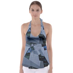 Abstract Modern Pattern Design Babydoll Tankini Top