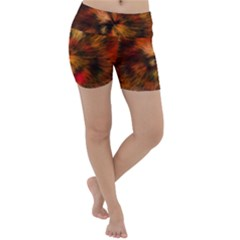 Color Background Structure Lines Lightweight Velour Yoga Shorts by Pakrebo