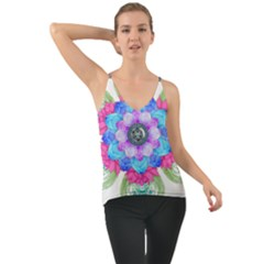 Lotus Flower Bird Metatron S Cube Chiffon Cami