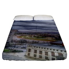 Ohio Supreme Court View Fitted Sheet (king Size) by Riverwoman