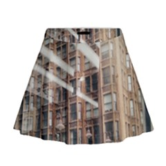 Chicago L Morning Commute Mini Flare Skirt by Riverwoman