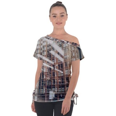 Chicago L Morning Commute Tie-up Tee by Riverwoman