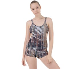 Chicago L Morning Commute Boyleg Tankini Set  by Riverwoman