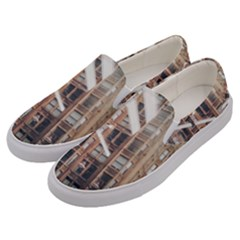 Chicago L Morning Commute Men s Canvas Slip Ons by Riverwoman