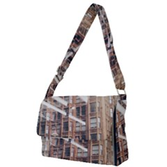 Chicago L Morning Commute Full Print Messenger Bag by Riverwoman
