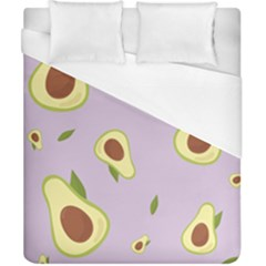 Avocado Green With Pastel Violet Background2 Avocado Pastel Light Violet Duvet Cover (california King Size) by genx
