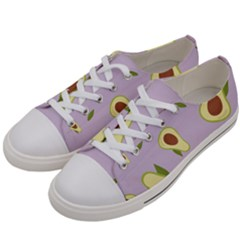 Avocado Green With Pastel Violet Background2 Avocado Pastel Light Violet Men s Low Top Canvas Sneakers by genx