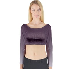 Organic Olive Leaves Pattern Hand Drawn Purple Red Wine Long Sleeve Crop Top by genx